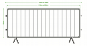 Crowd Control Barrier Sizes