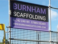 Single Sided Scaffold Banners