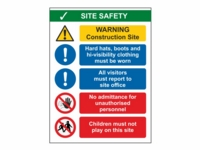 Site Safety Sign SS01 - 300mm x 400mm