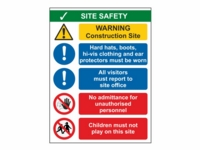 Site Safety Sign SS02 - With Ear Protectors - 300mm x 400mm