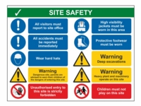 Site Safety Sign SS03 - 800mm x 600mm