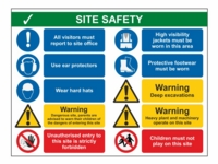 Site Safety Sign SS04 - With Ear Protectors - 800mm x 600mm