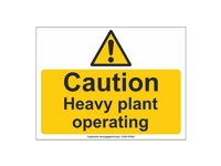 Caution Heavy Plant Sign - CH01 - 450mm x 200mm