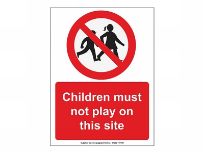 Child Construction Site Safety Sign