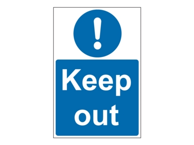 Keep Out Portrait Site Safety Sign