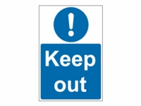 Keep Out Site Safety Sign - KP01 - 400mm x 600mm