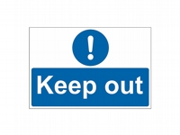 Keep Out Site Safety Sign - KP02 - 600mm x 400mm