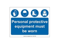 PPE Site Safety Sign - PP01 - 600mm x 400mm