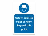 Safety Helmets Site Safety Sign - PP03 - 200mm x 300mm