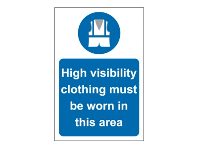 Hi-Vis Jackets Site Safety Sign