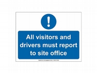 Visitors To Office Site Sign - VI03 - 600mm x 450mm