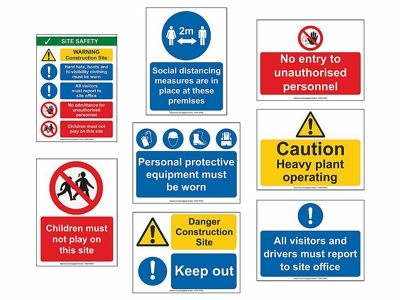 Site Safety Sign Bundle - Small