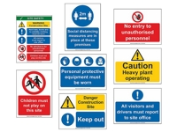 Small Construction Site Safety Sign Bundle - Save £71