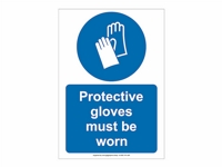 HS01 - Protective Gloves Must Be Worn Sign