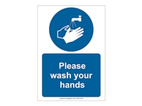 HS02 - Please Wash Your Hands Sign