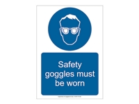 HS05 - Safety Goggles Must Be Worn Sign
